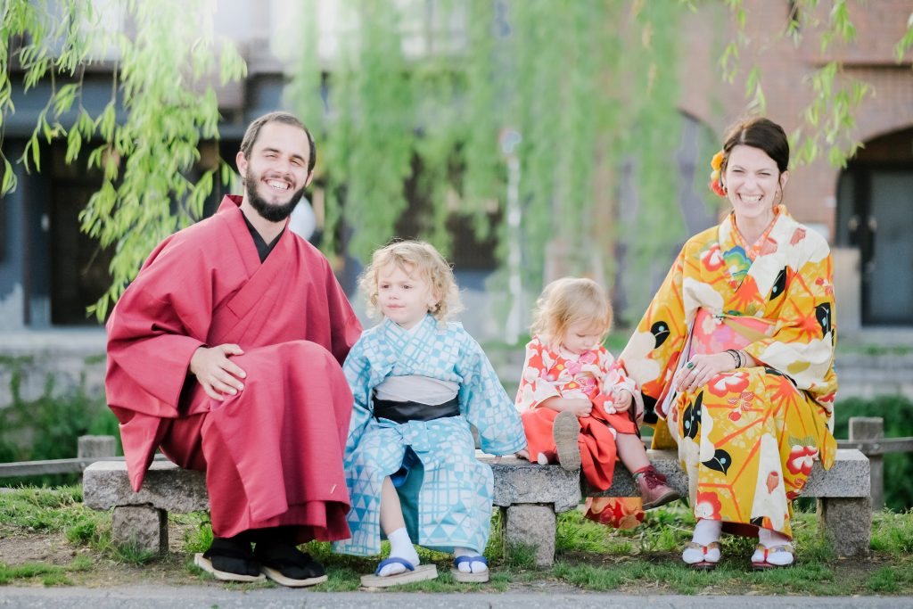 Freelance family photographer in Kyoto