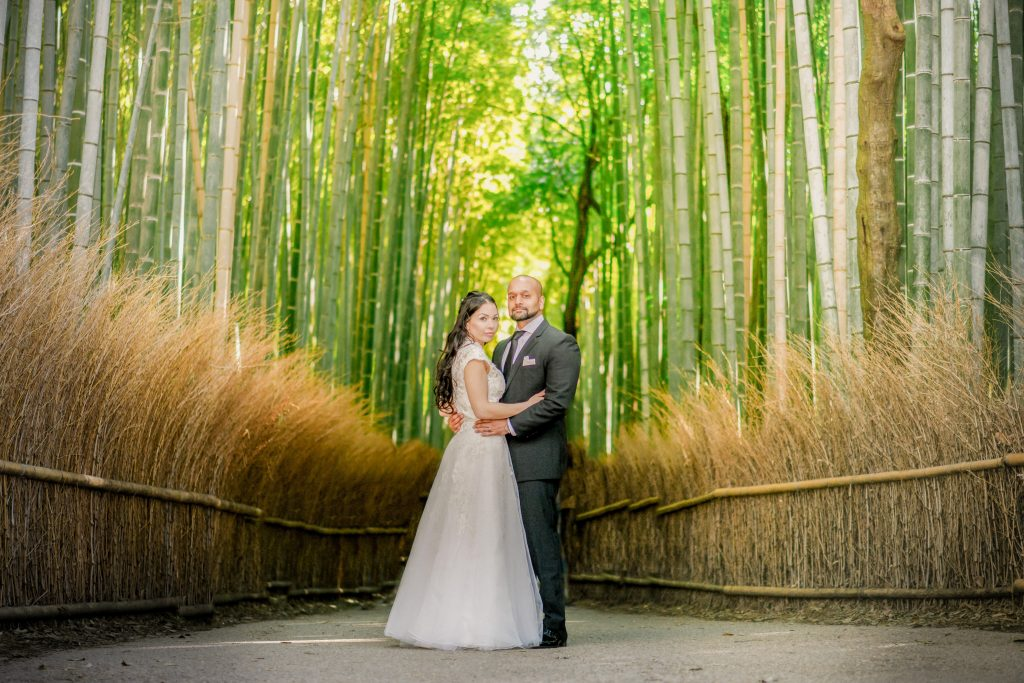 The best pre wedding photo graher Cherry blossom and Arashiyama bamboo forest